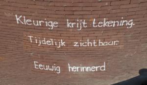 Stoepkrijthaiku Leiden