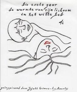Haiku Haiga Witte Bed Tini Haartsen-Slappendel