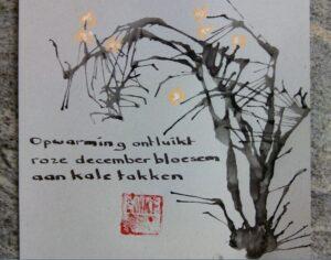 haiga haiku opwarming ontluikt Emke van Breugel