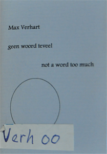 Max Verhart - Geen woord teveel